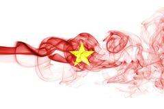 Vietnam smoke flag. Isolated on a white background stock image