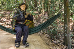 Vietnam Soldier Mannequin - Cu Chi Tunnels Royalty Free Stock Image