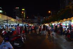 Vietnam - Ho chi Minh City - Ben Thanh Market outside stalls Stock Photography