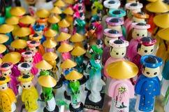 Vietnam souvenir dolls. A lot of Vietnam souvenir dolls for sale Stock Images