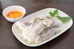 Vietnam spring roll with pork in side Stock Image