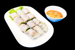 Vietnam steamed spring roll Royalty Free Stock Image