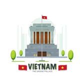Vietnam storslagen slottgränsmärke - stock illustrationer