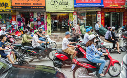 Vietnam-Straßen-Verkehr Stockfotos