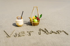 Vietnam strand Arkivfoto