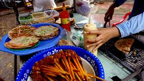 Vietnam street food culture royalty free stock photography