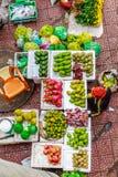 Vietnam street market lady seller Stock Images