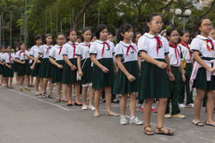 Vietnam students marching Royalty Free Stock Photos