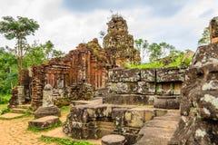 Vietnam temple. At My Son, Quang Nam province, VIetnam Stock Photo