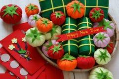 Vietnam Tet, banh tet, banh Chung, guten Rutsch ins Neue Jahr Stockfotos
