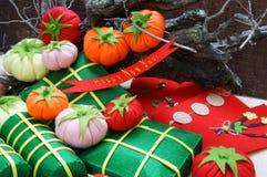 Vietnam Tet, banh tet, banh chung, Happy New Year Royalty Free Stock Photo