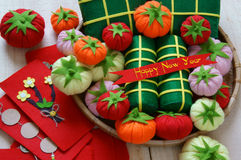 Vietnam Tet, banh tet, banh chung, Happy New Year stock photos