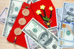 Vietnam Tet, red envelope, lucky money Royalty Free Stock Images