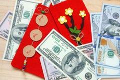 Vietnam Tet, sobre rojo, dinero afortunado Imágenes de archivo libres de regalías