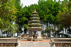 Vietnam- - Thien-MU Pagode Stockbild
