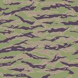 Vietnam Tiger stripe Camouflage seamless patterns. Vector Illustration Stock Photo