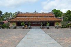 Vietnam - Tint - die Tempel wordt gezongen bij de Koninklijke Mausolea - Minh Mang royalty-vrije stock afbeelding
