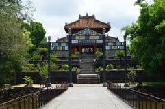 Vietnam - tonalidad - pabellón en los mausoleos reales - Minh Mang del lau del minh fotografía de archivo