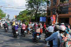 Vietnam: Tons of CO2-emmissions every day are polluting the air in Saigon/Ho Chi Ming City stock photos