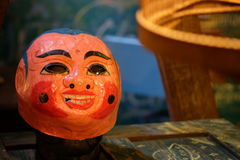 VIETNAM TRADITIONAL MASK FOR MID-AUTUMN FESTIVAL. Vietnamese traditional mask for dragon dance in autumn festival. It can be displayed as decoration Stock Image