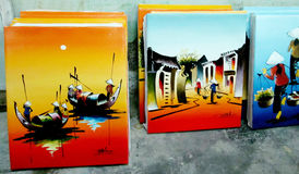 Vietnam traditional painting Royalty Free Stock Images