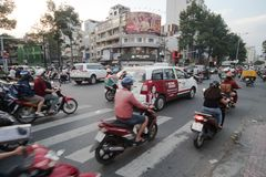 Vietnam trafik royaltyfri bild
