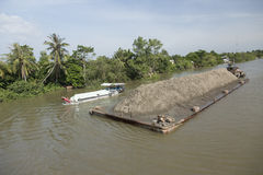 Vietnam, Transport ship on mekong river Royalty Free Stock Photos