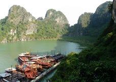 Vietnam travel beach ocean panorama Ha Long Bay Royalty Free Stock Photos