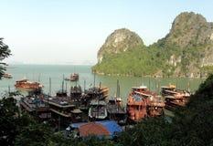 Vietnam travel beach ocean panorama Ha Long Bay Stock Image