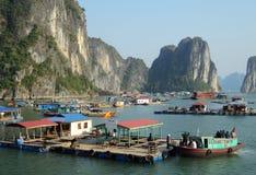Vietnam travel beach ocean panorama Ha Long Bay Stock Photography