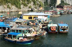 Vietnam travel beach ocean panorama Ha Long Bay Royalty Free Stock Photography
