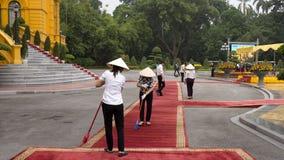 Vietnam treft voor de het welkom heten ceremonie voorbereidingen Royalty-vrije Stock Fotografie