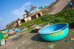 Vietnam and the United States Chennai fishing village market. Mina (Mui Ne) is approximately 22 km in Vietnam a fishing town on the peninsula southeast of Mina Royalty Free Stock Images