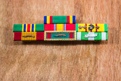 Vietnam Veteran Ribbons. Vietnam Veteran Service Ribbons On Display Stock Image