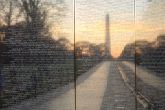 Vietnam Veteran's Memorial Wall Washington DC Royalty Free Stock Photography