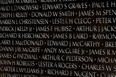 Vietnam veteran som är minnes- i Washington DC, closeupdetalj, desi Fotografering för Bildbyråer