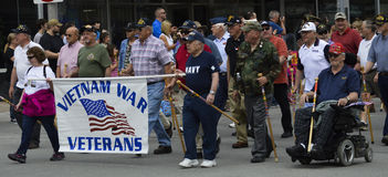 Vietnam Veterans March in Memorial Day Parade Royalty Free Stock Image
