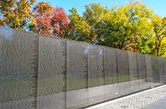 Vietnam Veterans Memorial. Monument Wall Royalty Free Stock Photos