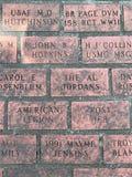 Engraved Bricks at the Vietnam Veterans Memorial in Savannah, GA. Vietnam Veterans Memorial in Savannah, GA stock photo