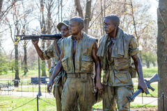 Vietnam Veterans Memorial Statue, Washington DC Royalty Free Stock Photo
