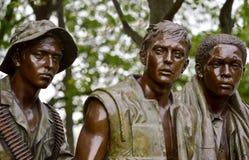 Vietnam Veterans Memorial Three Soldiers. A closeup of The Three Soldiers statue at the Vietnam Veterans Memorial. The Three Soldiers, also known as The Three Royalty Free Stock Photos