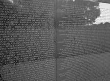 Vietnam Veterans Memorial Wall Royalty Free Stock Photos