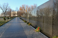 Vietnam Veterans Memorial Wall Washington DC. Located in Washington, DC, the Vietnam Veterans Memorial Wall honors 58,272 servicemen who died or are MIA in the Stock Images