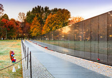 Vietnam Veterans Memorial Wall Washington DC Autum Royalty Free Stock Photo