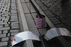 The Vietnam Veterans Memorial. In Washington D.C. during the month of March Stock Images
