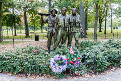 Vietnam Veterans Memorial Washington Royalty Free Stock Photo