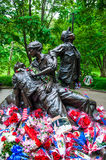 Vietnam Veterans Memorial in Washington DC, USA Royalty Free Stock Photo