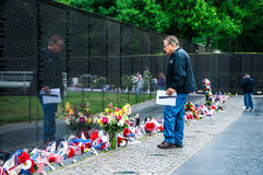 Vietnam Veterans Memorial in Washington DC, USA Stock Photography