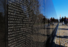 The Vietnam Veterans Memorial in Washington DC, USA Stock Images
