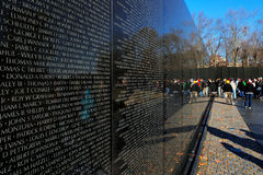 The Vietnam Veterans Memorial in Washington DC, USA Stock Photography